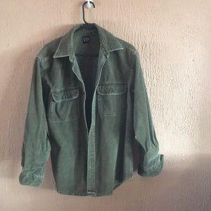Gap brand olive corduroy shirt.. classic!
